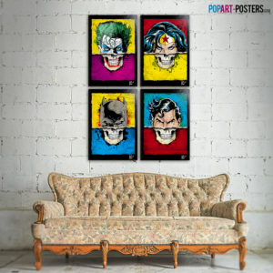 Original Pop-Art inspired by Comics, Cult Movies and FIction
