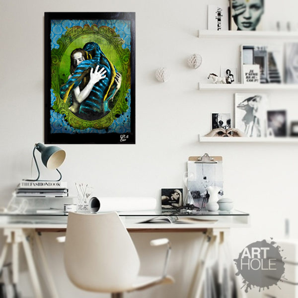 The Shape of Water by Del Toro Pop Art Movie Poster Handmade