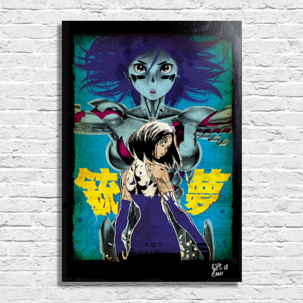 Battle Angel Alita Anime Manga and Movie Pop Art Poster