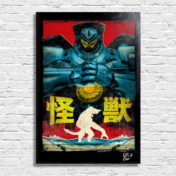 Gipsy Danger Robot from Pacific Rim Movie Kaiju Pop Art Poster Handmade