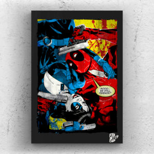 Deadpool & Domino Pop Art Poster