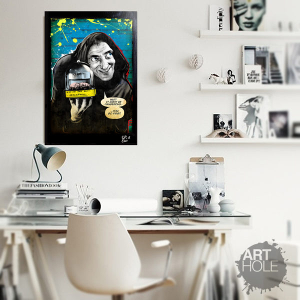 Igor from Young Frankestein / Frankenstein Junior movie Marty Feldman Pop Art Handmade Artwork Poster