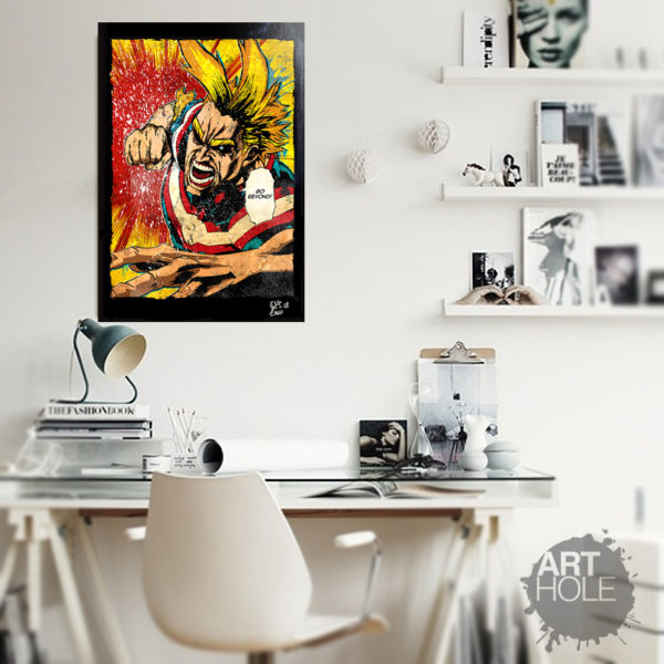 Boku No Hero All Might Toshinori Yagi Pop Art Poster Artwork Handmade Quadro My hero Academia