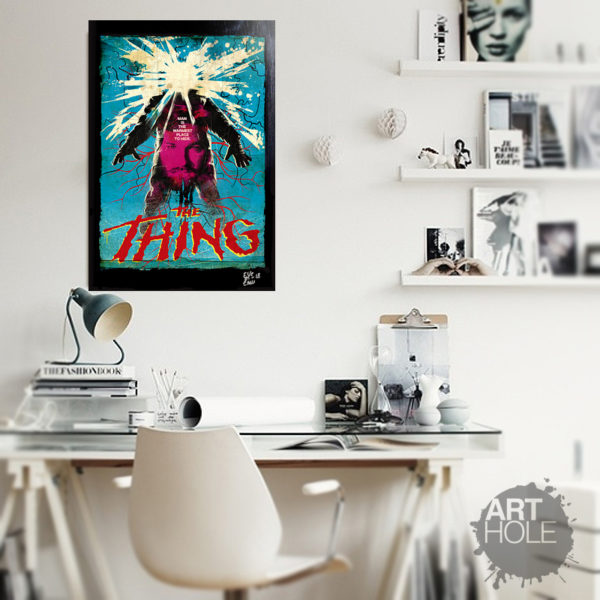 The Thing La Cosa John Carpenter Poster Pop-Art Handmade Artwork Quadro Originale Kurt Russell MacReady