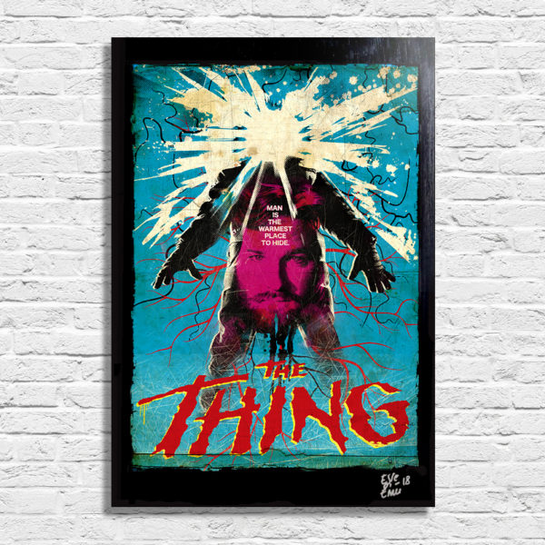 The Thing La Cosa Poster Pop-Art Handmade Artwork Quadro Kurt Russell John Carpenter