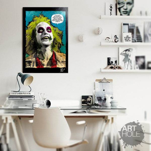 Michael Keaton BeetleJuice Movie Pop-Art Poster Handmade Quadro Artwork
