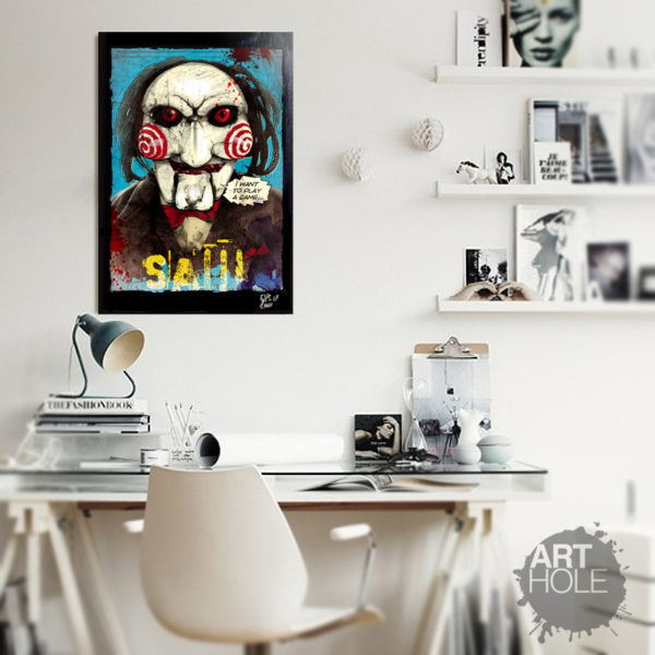 Billy the puppet from Saw movies (Jigsaw) Pop Art