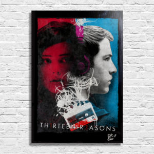 Thirteen Reasons Poster Pop Art