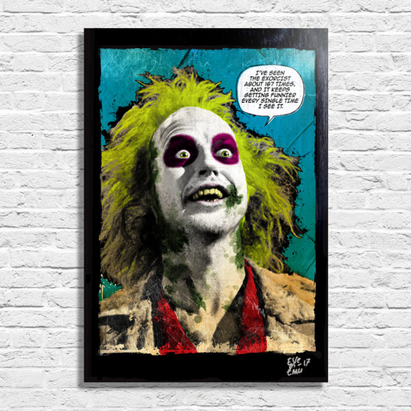 Beetlejuice Tim Burton Poster Pop-art Handmade Quadro Artwork