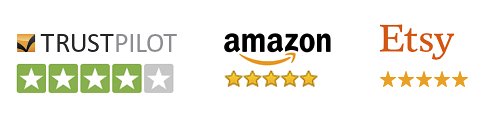 Top Seller Rating for Popart-Posters.com on Amazon, Etsy and Trustpilot!