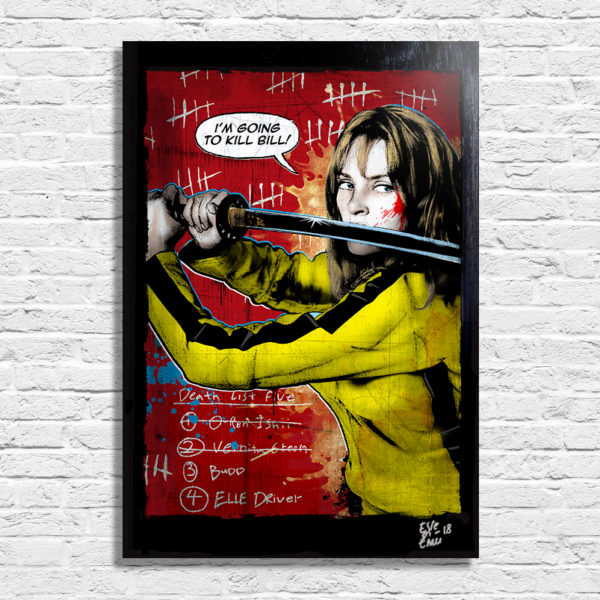 Beatrix Kiddo from Kill Bill Movie Poster Pop Art Handmade