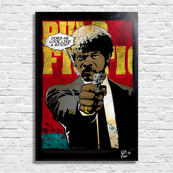 Jules from Pulp Fiction by Quentin Tarantino Pop Art Poster