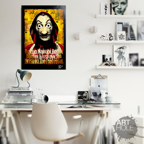 Dalì Mask Casa di Carta, Casa de Papel, Money Heist Pop Art Handmade Poster Netflix