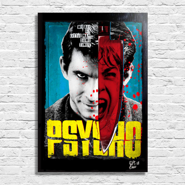 Norman Bates from Psycho Alfred Hitchcock Movie Poster Original Pop Art Artwork Quadro Handmade