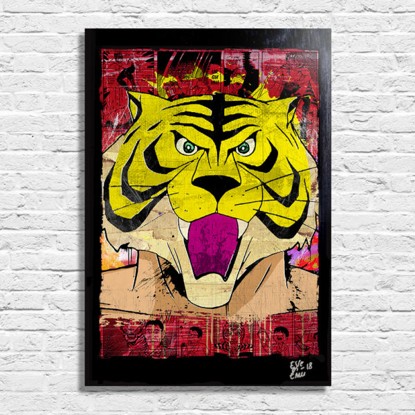 Tiger Mask Uomo Tigre Original Pop Art Poster Handmade Artwork Quadro Originale