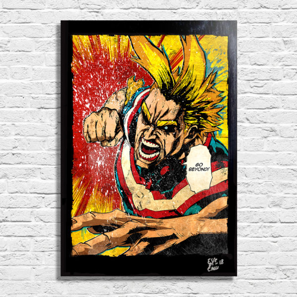 All Might Toshinori Yagi My Hero Academia Pop Art Poster Handmade Artwork Quadro
