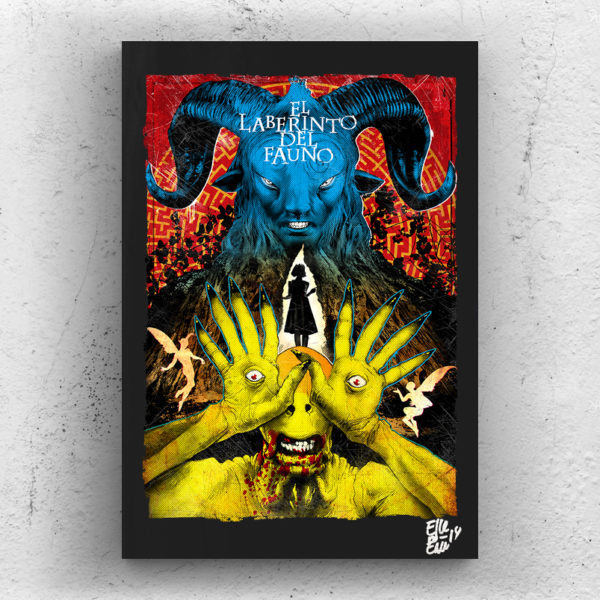 Pan's Labyrinth movie Pop-Art Poster Original Artwork Quadro Handmade Guillermo Del Toro faun pale man