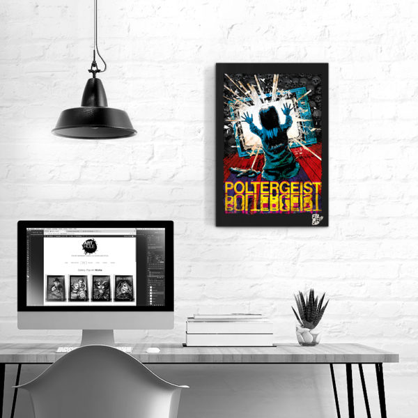 Poltergeist Pop-Art Original Poster Handmade Quadro Horror Halloween Film