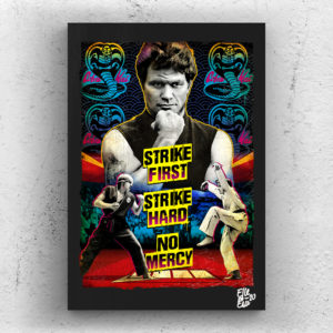 Cobra Kai Sensei John Kreese from The Karate Kid 1984 movie Pop Art Original handmade Poster Artwork Cult Movie. Martin Kove, Daniel LaRusso, Miyagi, Johnny Lawrence, Cult 80s.