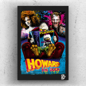 Howard the Duck movie Pop Art Original handmade Poster Artwork Cult Film. George Lucas, Lea Thompson, Jeffrey Jones, Marvel Comics, Fantasy, Sci-Fi, 1986, 80s