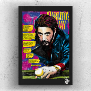 Carlito Brigante from Carlito's Way movie Pop Art Original handmade Poster Artwork Cult Film. Brian De Palma, Al Pacino, Scarface, Tony Montana, The Godfather, 90s movie, Alternative Movie Poster