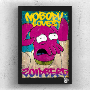 Dr. Zoidberg from Futurama Tv Series Comics Pop Art Original handmade Poster Artwork Cult Series. Matt Groening, Philip J. Fry, Leela, Bender Rodriguez, Planet Express, The Simpson, Disenchantment, Sci-Fi
